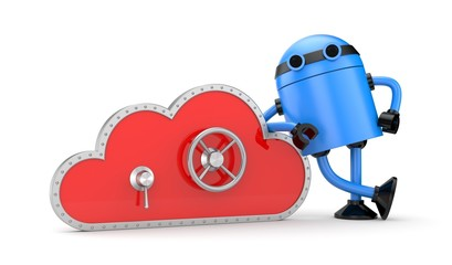 Cloud and safe lock with robot