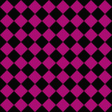 Black and Pink Diagonal Checkers on Textured Fabric Background