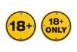 18+ round signs
