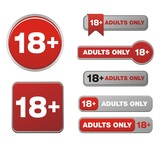 18+ for adults only button sets
