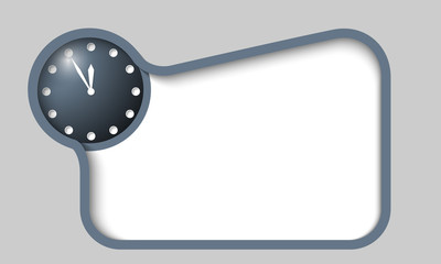 vector text box for any text with clock