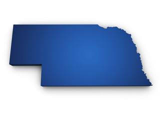 Map Of Nebraska 3d Shape