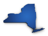 Fototapety Map Of New York State 3d Shape