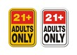 21+ for adults only signs