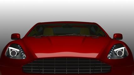 Detailansicht Sportwagen Motorhaube