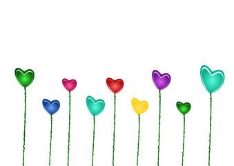 Bunte Herzen zum Valentinstag