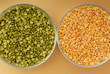 green pea and yellow pea