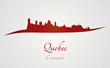 Quebec skyline in red