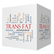 Trans Fat 3D Cube Word Cloud Concept