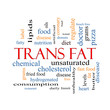 Trans Fat Word Cloud Concept