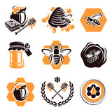 Honey set. Vector