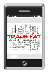 Trans Fat Word Cloud Concept on Touchscreen Phone
