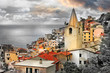 Riomaggiore village, Cinque terre Liguria. Italy