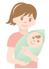 赤ちゃん抱っこママ