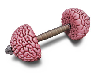 Brain training illustration