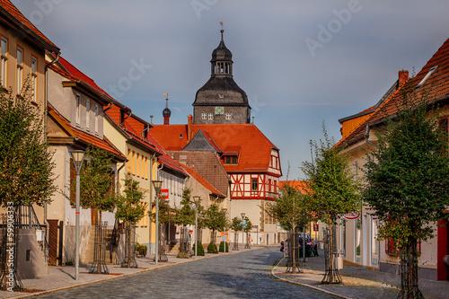 Leinwandbild Motiv Innenstadt von Harzgerode