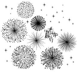 vector black fireworks