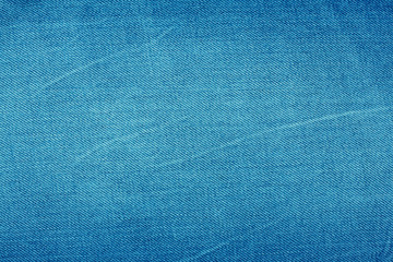 Bright blue denim background