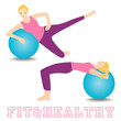 Stretch body fitness exercises workout. Keep fit. Sport.