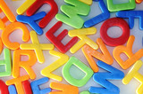 colorful letters detail