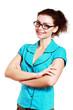Beautiful young woman eyeglasses