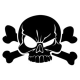 Skull and bones sign of the danger