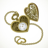 Pocket watch in the form of heart