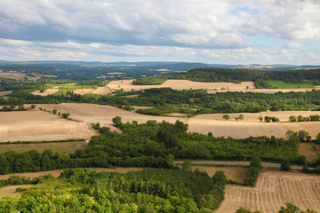 Beautiful landscape in Burgundy, France