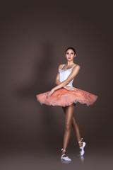 Graceful slender ballerina