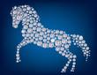 Horse of diamonds