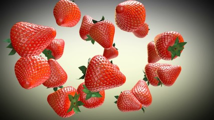 Strawberries rotating