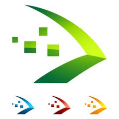 Pfeil - abstrakt logo