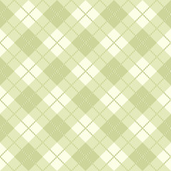 Green tartan seamless pattern vector background