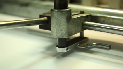 machines in the printing house, close-up 8