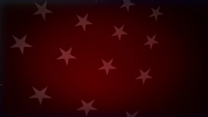 red background, with white stars