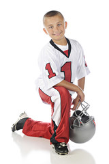 Kneeling Football Boy