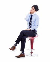 Young Asian man having a stress
