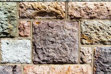 Square Stone Rock Wall