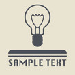 Light bulb icon or sign, vector illustration