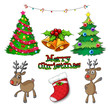 Set of christmas decors