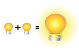 equation of idea, brainstorms concept, wisdom