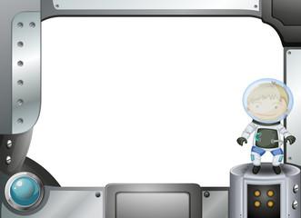 A frame with an astronaut