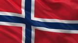 Flag of Norway waving in the wind - seamless loop