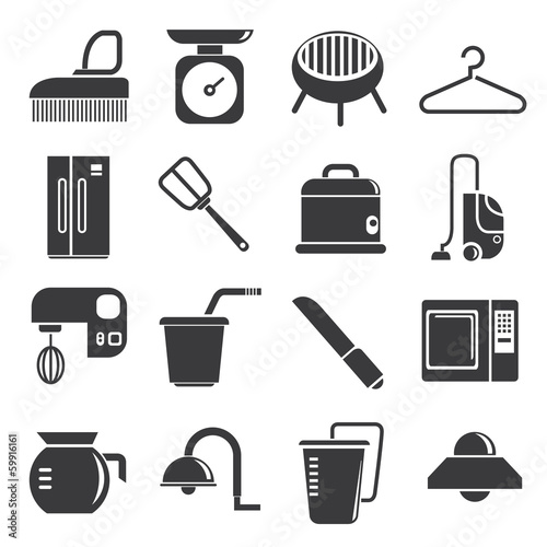 kitchenware icons set