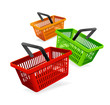 Colorful shopping basket