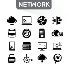 network icons set, vector set
