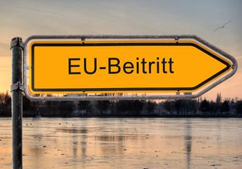 Strassenschild 9 - EU-Beitritt