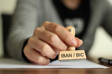 IBAN BIC Stempel