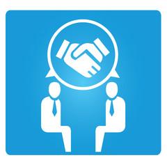 dealing concept, hand shake symbol