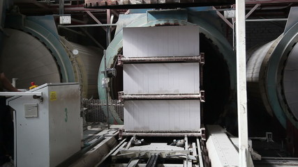 industrial ovens for drying of concrete at the plant